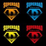 Héroe estupendo Logo Supehero Letters del papá Fotos de archivo