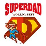 Héroe estupendo Logo Supehero Letters del papá Imagen de archivo libre de regalías
