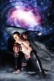 Héroe galáctico del espacio Fotos de archivo libres de regalías