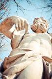 Héroe o dios mitológico que señala en sí mismo Fotos de archivo libres de regalías
