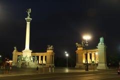 Héroes Budapest cuadrada Fotografía de archivo libre de regalías