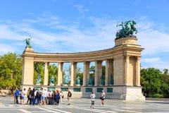 Héroes cuadrados en Budapest el 25 de julio de 2014 Foto de archivo