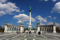 Héroes cuadrados en Budapest, Hungría Fotos de archivo