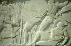 Héroes griegos del monumento 300 Imagenes de archivo