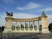Héroes Squeare, Budapest Foto de archivo