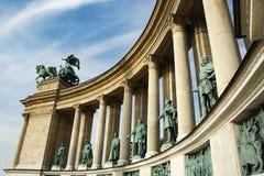 Héros Budapest carré, Hongrie Photographie stock libre de droits