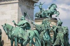 Héros carrés à Budapest, Hongrie Image libre de droits