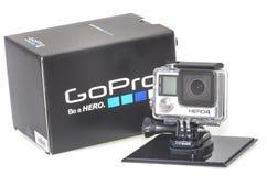 Héros 4 de GoPro Photos libres de droits