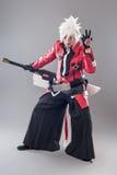 Héros de Manga avec l'épée photographie stock