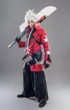 Héros de Manga avec l'épée image libre de droits