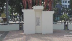 Héros de monument dans la ville de Pekalongan clips vidéos