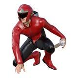 héros masculin du rendu 3D sur le blanc Photographie stock libre de droits