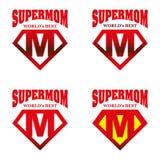 Héros superbe Logo Supehero Letters de maman Photographie stock libre de droits