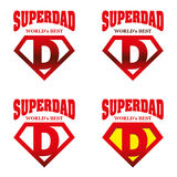 Héros superbe Logo Supehero Letters de papa illustration stock
