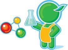 Héros vert en tant que professeur de chimie illustration stock