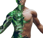 híbrido Bionic de 3D Digitaces Fotos de archivo libres de regalías