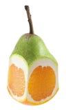 Híbrido da pera e da laranja Fotografia de Stock Royalty Free