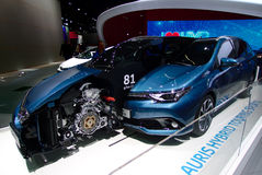 Híbrido de Toyota que visita esportes nos carros de IAA Imagem de Stock