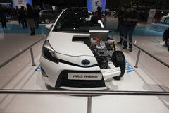 Híbrido de Toyota Yaris Fotografía de archivo