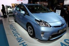 Híbrido del enchufe de Toyota Prius Foto de archivo libre de regalías