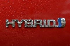 HÍBRIDO do emblema de Toyota fotografia de stock