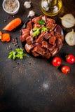 Hígado crudo cortado de la carne de vaca Fotos de archivo libres de regalías