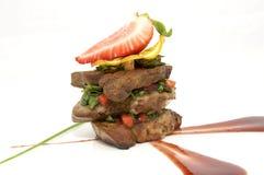 Hígado de ganso de la carne asada Fotos de archivo libres de regalías