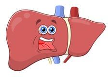 Hígado de griterío de la historieta Imagenes de archivo