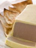 Hígado de pollo y postre helado de Foie Gras imagenes de archivo