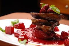 Hígado el ganso frito Foto de archivo libre de regalías