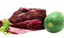 Hígado sin procesar del cerdo Foto de archivo libre de regalías