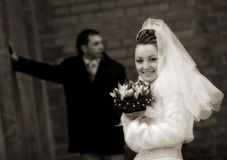 Hарру wedding Stock Images