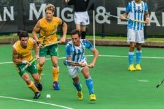 Hóquei Argentina internacional V África do Sul Imagem de Stock Royalty Free