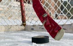 Hóquei do inverno Imagens de Stock