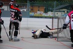 Hóquei do rolo em Áustria Foto de Stock