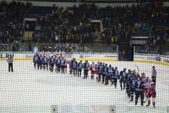 Hóquei em Minsk, Bielorrússia foto de stock royalty free
