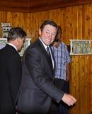 Hóquei grande um Wayne Gretzky Smile imagens de stock