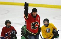 Hóquei Theo Fleury Instruction do NHL imagens de stock royalty free