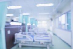 Hôpital abstrait de tache floue intérieur pour des milieux photo libre de droits