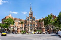 Hôpital de la croix et du saint saints Paul de la Santa Creu i Sant Pau, Barcelone, Espagne photographie stock