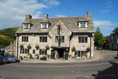 Hôtel au château de Corfe, Dorset photos stock