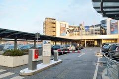 Hôtel bleu de Radisson à l'aéroport de Hambourg Image libre de droits