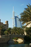 Hôtel d'étoiles de l'Arabe sept d'Al de Burj Photos libres de droits