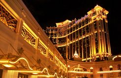 Hôtel d'or de Macao de galaxie d'entrée image stock
