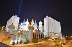 Hôtel d'Excalibur et casino, hôtel d'Excalibur et casino, hôtel d'Excalibur et casino, hôtel d'Excalibur et casino, point de repè Images libres de droits