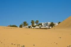 Hôtel dans le désert Photographie stock