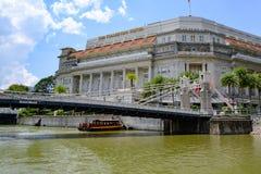 Hôtel de baie de Fullerton, Singapour, hôtel de luxe avec la grande histoire pendant la période de l'ère coloniale de Britsh image libre de droits