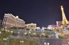 Hôtel de Bellagio et casino, Bellagio, hôtel de Paris et casino, zone métropolitaine, point de repère, ville, nuit Photos stock