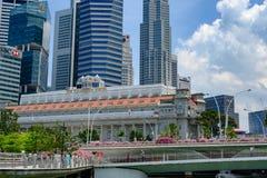 H?tel de Fullerton, Singapour, h?tel de luxe avec la grande histoire pendant la p?riode de l'?re coloniale de Britsh images stock