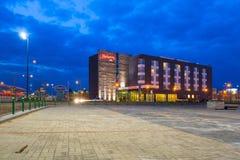 Hôtel de Hampton chez Lech Walesa Airport à Danzig Photos libres de droits